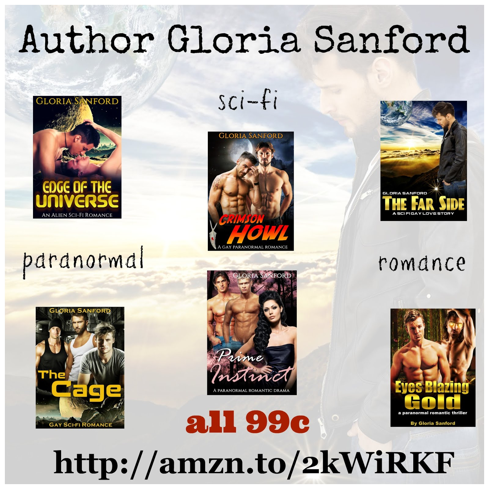 All of Gloria Sanford's books are now 99 cents!