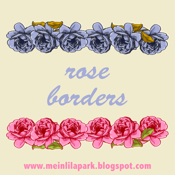 Today Im Sharing These Free Digital Faux Rose Borders With Transparent Background You Ive Drawn The Roses By Myself Actually Its One I Used