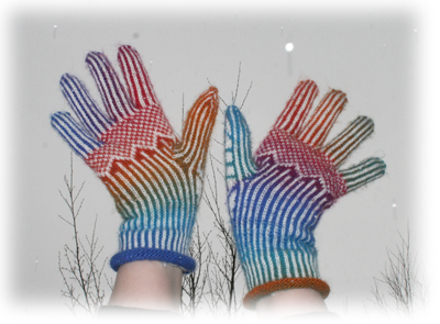 Fargeglade hansker