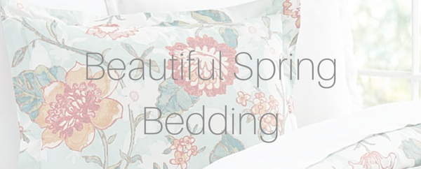 pottery barn bedding for spring