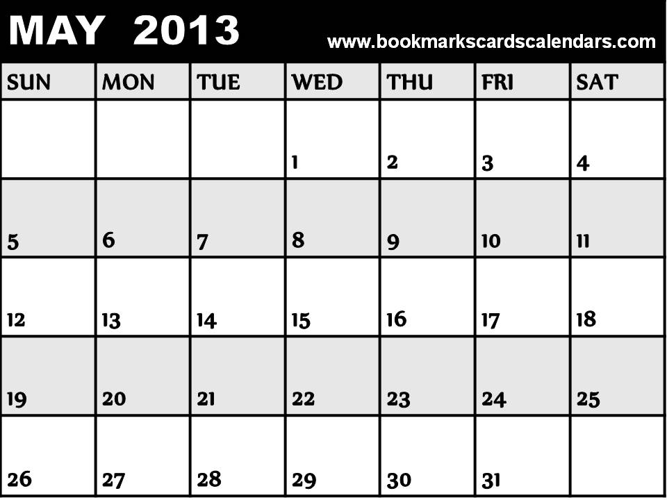 "Calendar May 2013 : Search results for ""blank calendar may and june page"