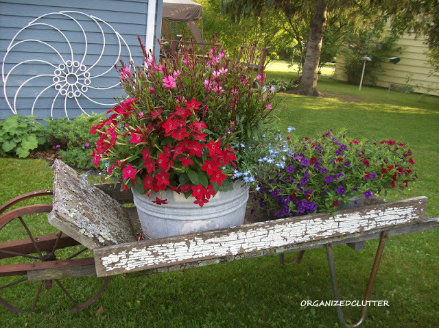 Chippy Wheelbarrow and Hay Tine Flower