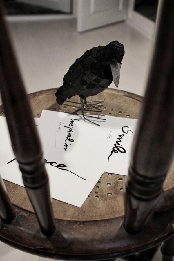 artprints, vykort, svarta och vita kort med text, prints med text, svart fågel, vinnare i tävlingen, tävla om artprints,