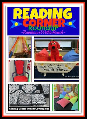 photo of: Reading Corner RoundUP: Inviting Centers for Inspiring Reading via RainbowsWithinReach