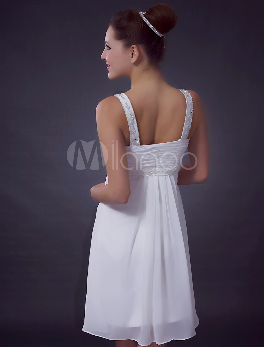 China Wholesale Clothes - White Sweetheart Lace Chiffon Satin Summer Homecoming Cocktail Dress