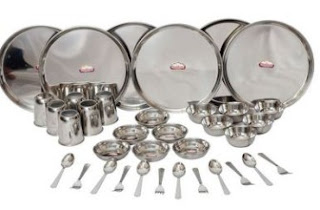Buy Shubham Stainless Steel Dinner set – 32 Pcs worth at Rs.300 only at Pepperfry : BuyToEarn