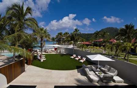 swimming pool and spa at villa rockstar in hotel eden rock in st. barths caribbean islands