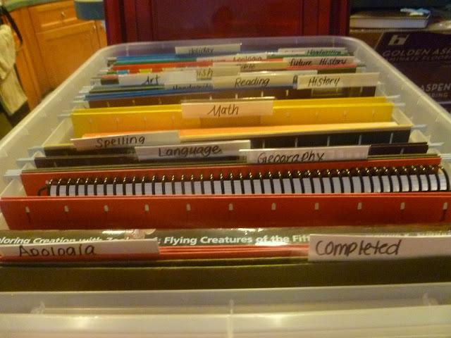 workboxes, workbins, homeschool
