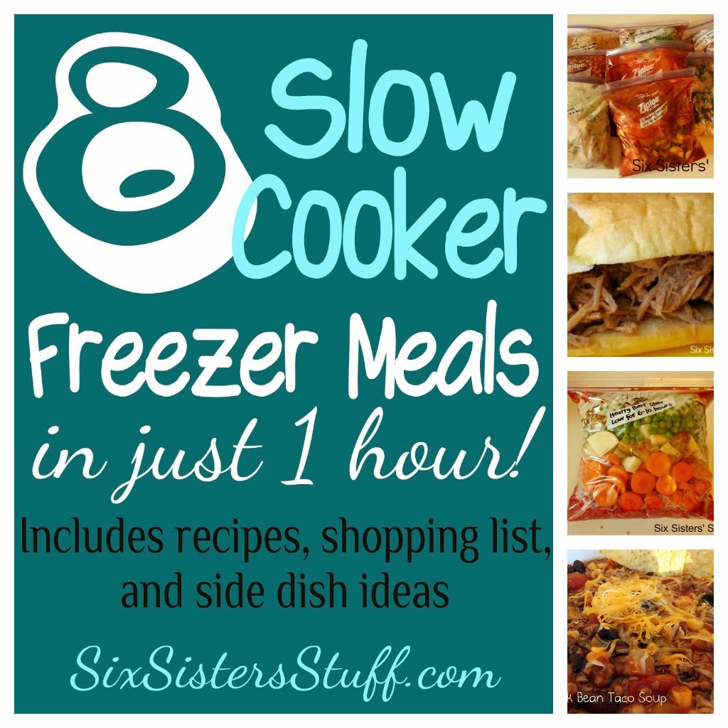Slow Cooker Freezer Meals - Make 8 Meals in 1 Hour