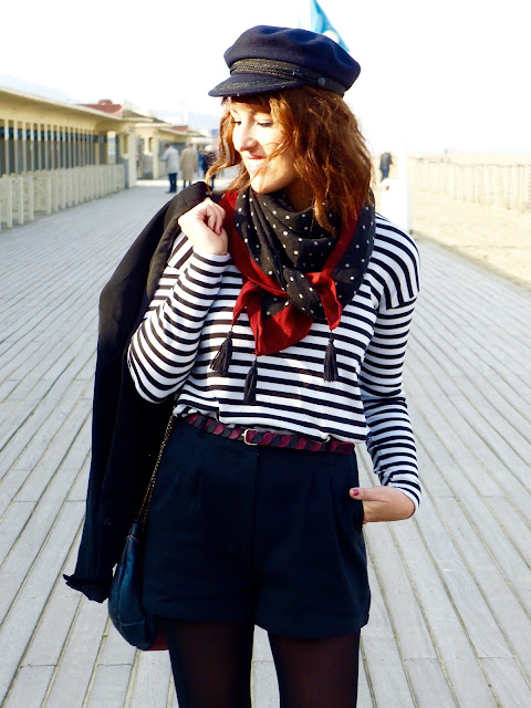 marin mode marinière casquette