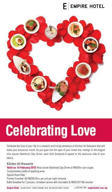 Food Street Empire Hotel Valentine S Day Promotion