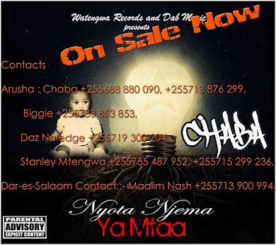 "GET YOUR COPY OF ""NYOTA NJEMA YA MTAA' MIXTAPE NOW."