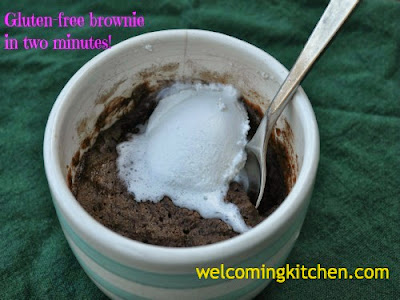 Vegan, Glutenfree mug brownie