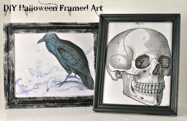 #DIY Framed Halloween Art. #Halloween #crafts
