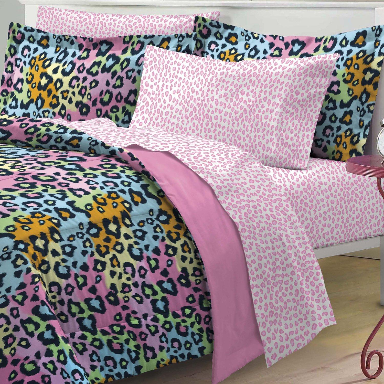 Total fab rainbow leopard and zebra print comforter bedding sets - Cheetah bedspreads ...