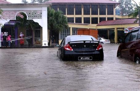 banjir di uitm shah alam