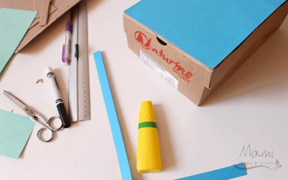 Mami chips crafts riciclo creativo di una scatola da scarpe for Come costruire i passaggi della scatola