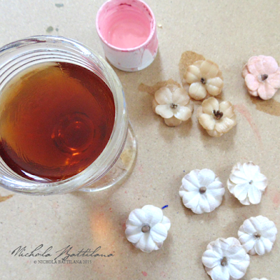 Tea Dying Petaloo DIY  Blooms