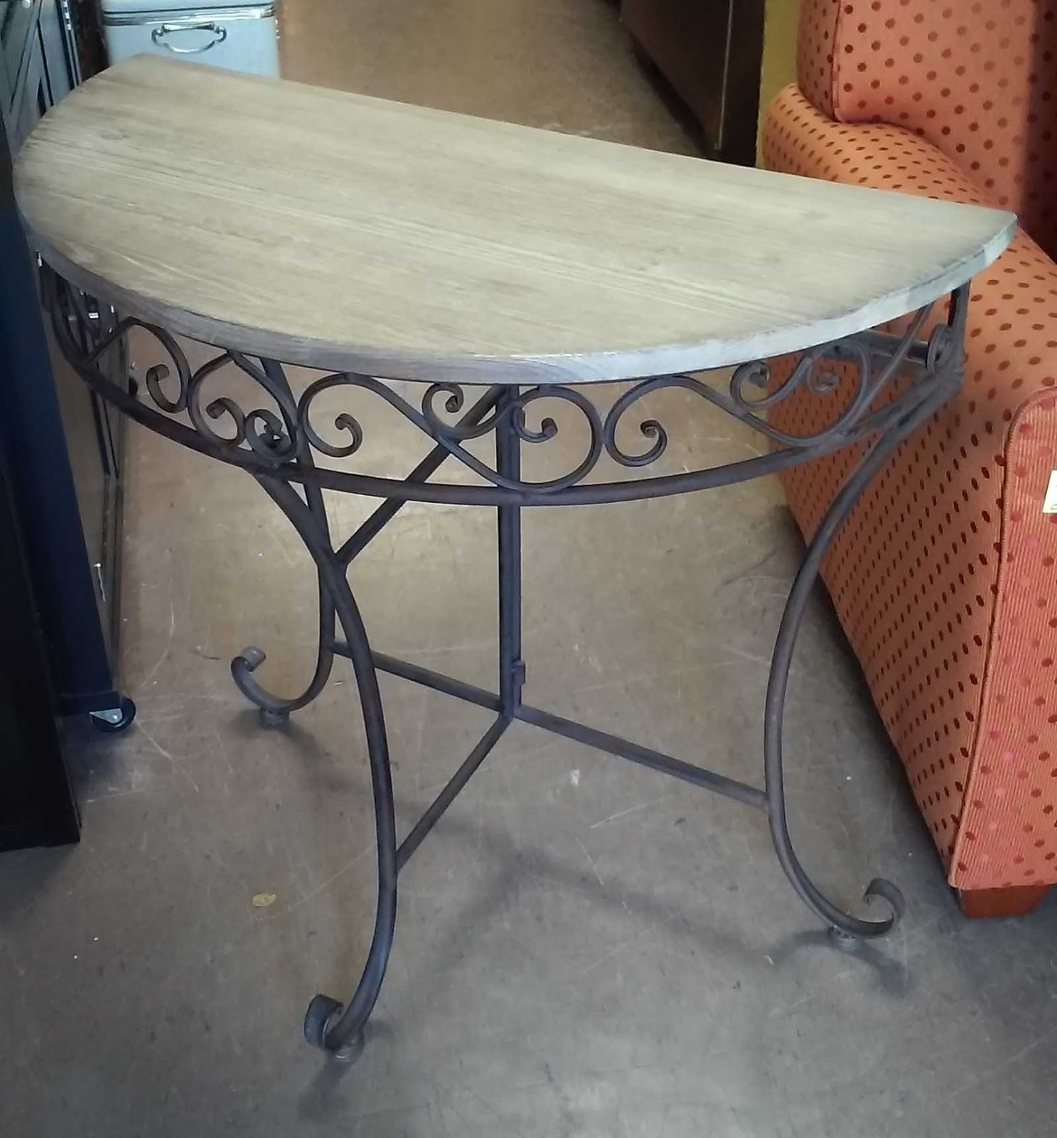 Uhuru furniture collectibles sold folding half moon for 35 console table