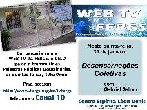 ASSISTA AS PALESTRAS PÚBLICAS DE DE 5ªAS FEIRAS PELO CANAL 10