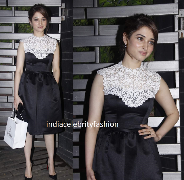 Tamannah Bhatia in Meher & Riddhima Cocktail Dress at Glenfiddich dinner