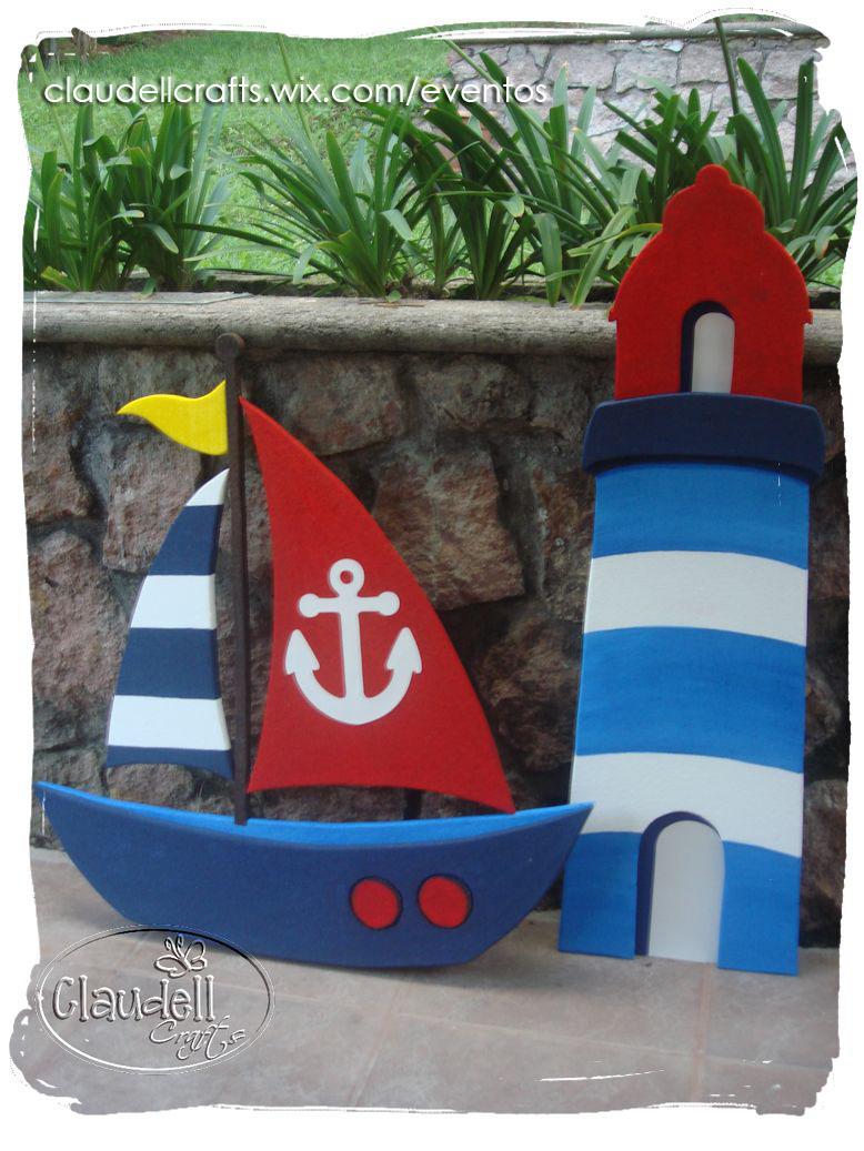 Claudell crafts fiesta tem tica n utica for Decoracion nautica infantil