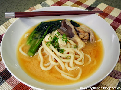 linmakingthings, miso, udon, vegetarian, recipe, Japanese, oyster mushrooms, Asian, umami
