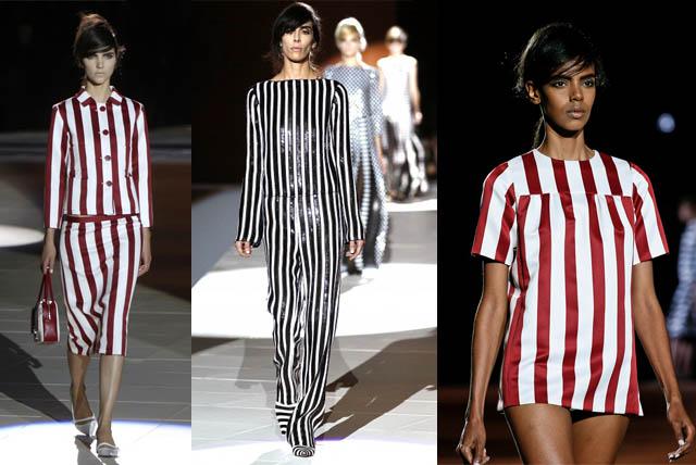 NAYA RIVERA ENSINANDO COMO USAR PIJAMA_outfit_streetstyle_estilo_trend pijama_listras_stripes_marc jacobs_bananas de pijama_