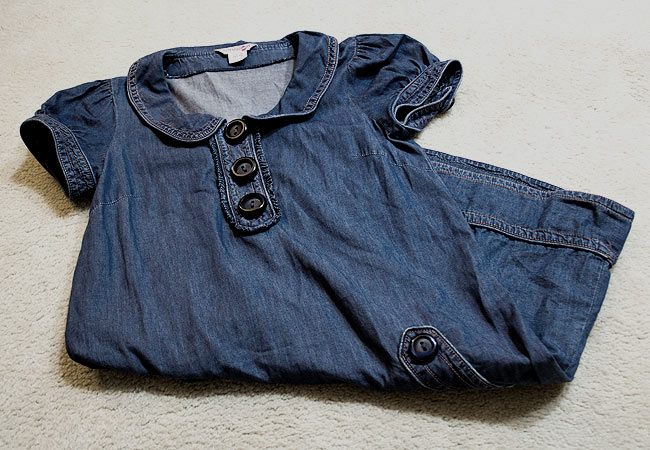 Kensie Girl Jean dress, Large button jean dress, Kensie Girl, Talize find