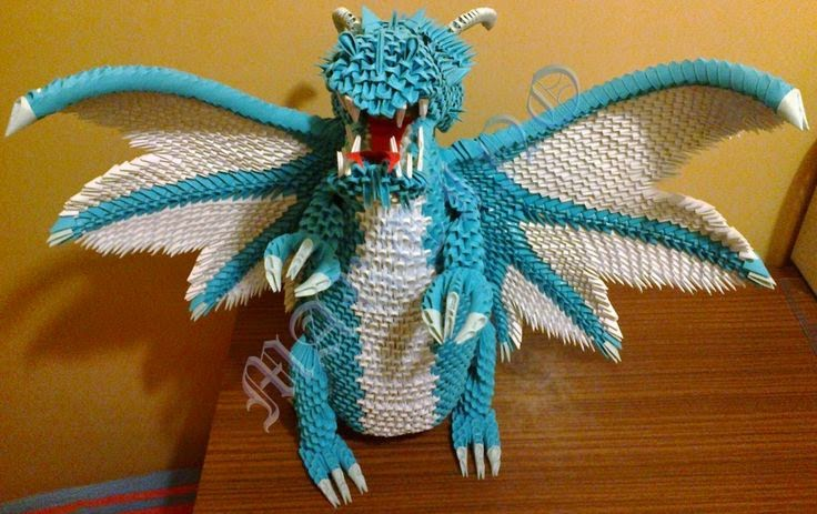 3d Origami Chinese Dragon