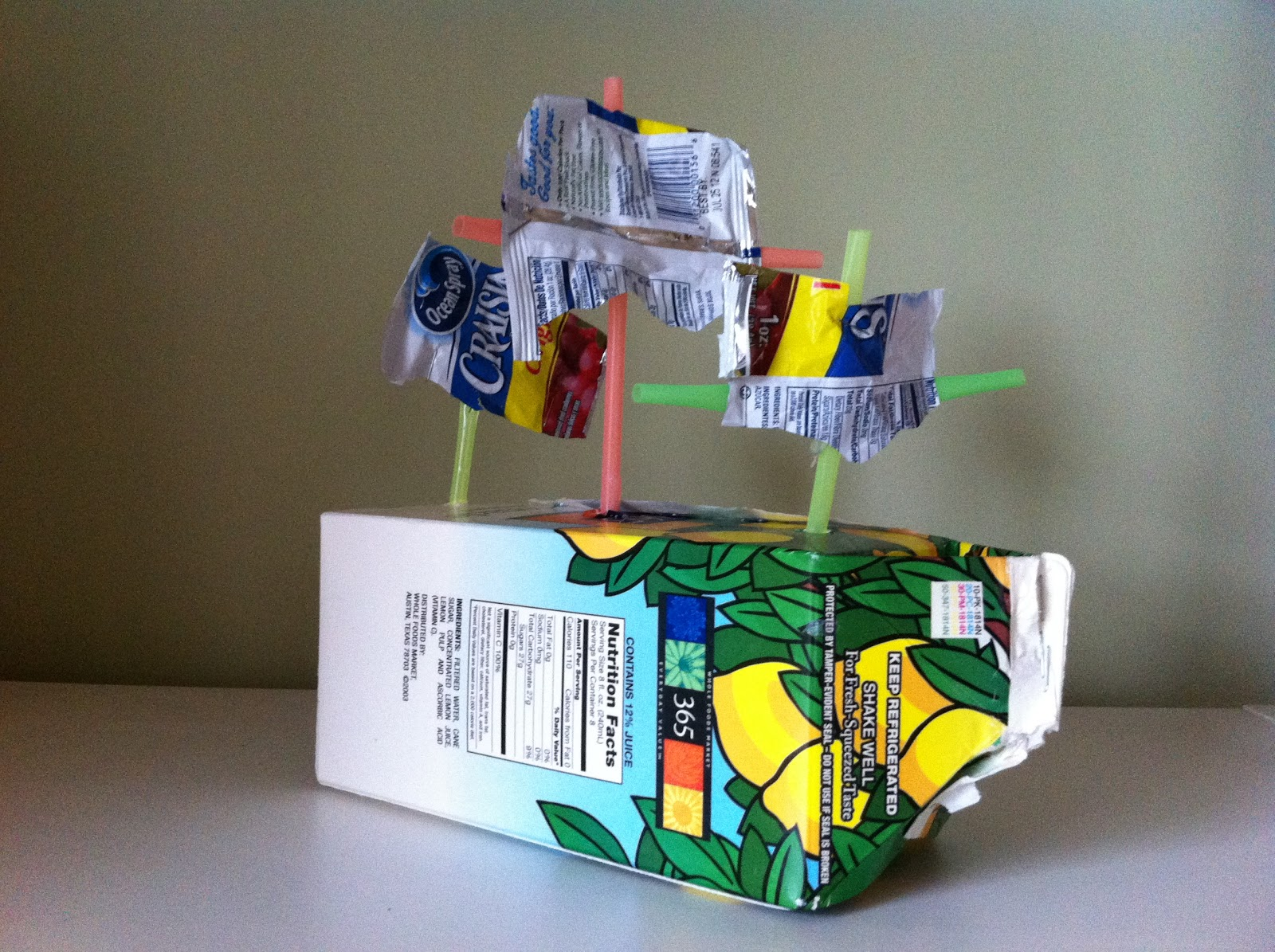 106 Juice Carton Treasure Boat