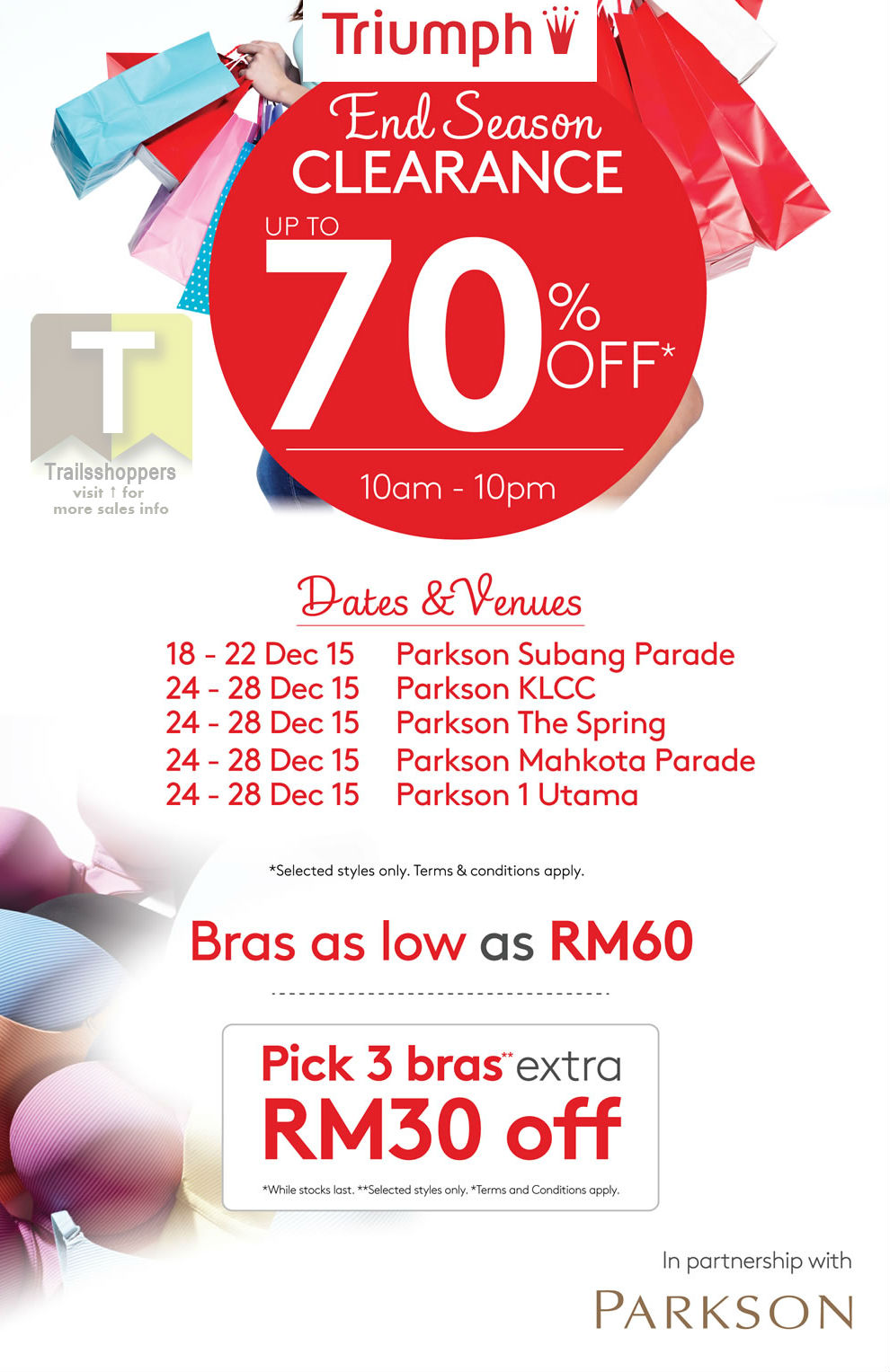 Parkson Triumph Year End Clearance 2015