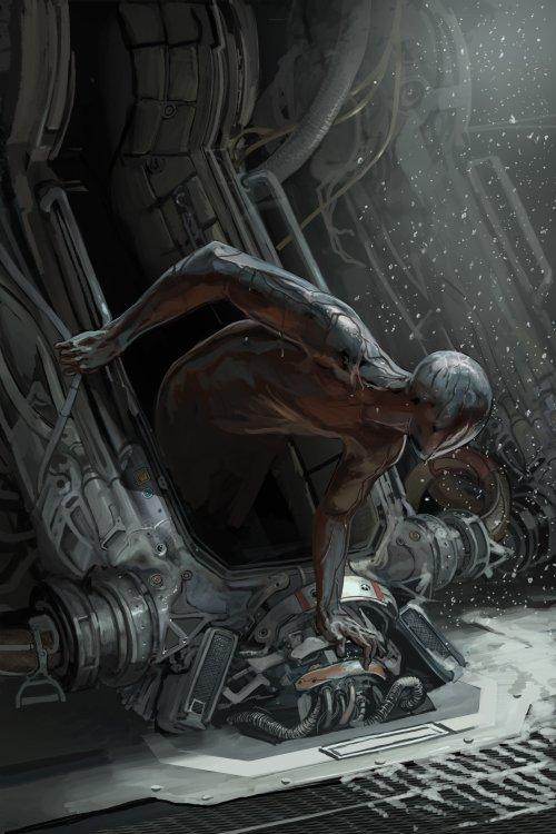 Michael MacRae deviantart ilustrações fantasia terror ficção científica androides desolação