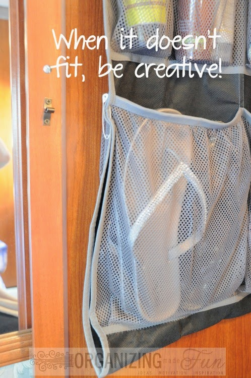 If things are too big or don't fit, be creative to make them work :: OrganizingMadeFun.com