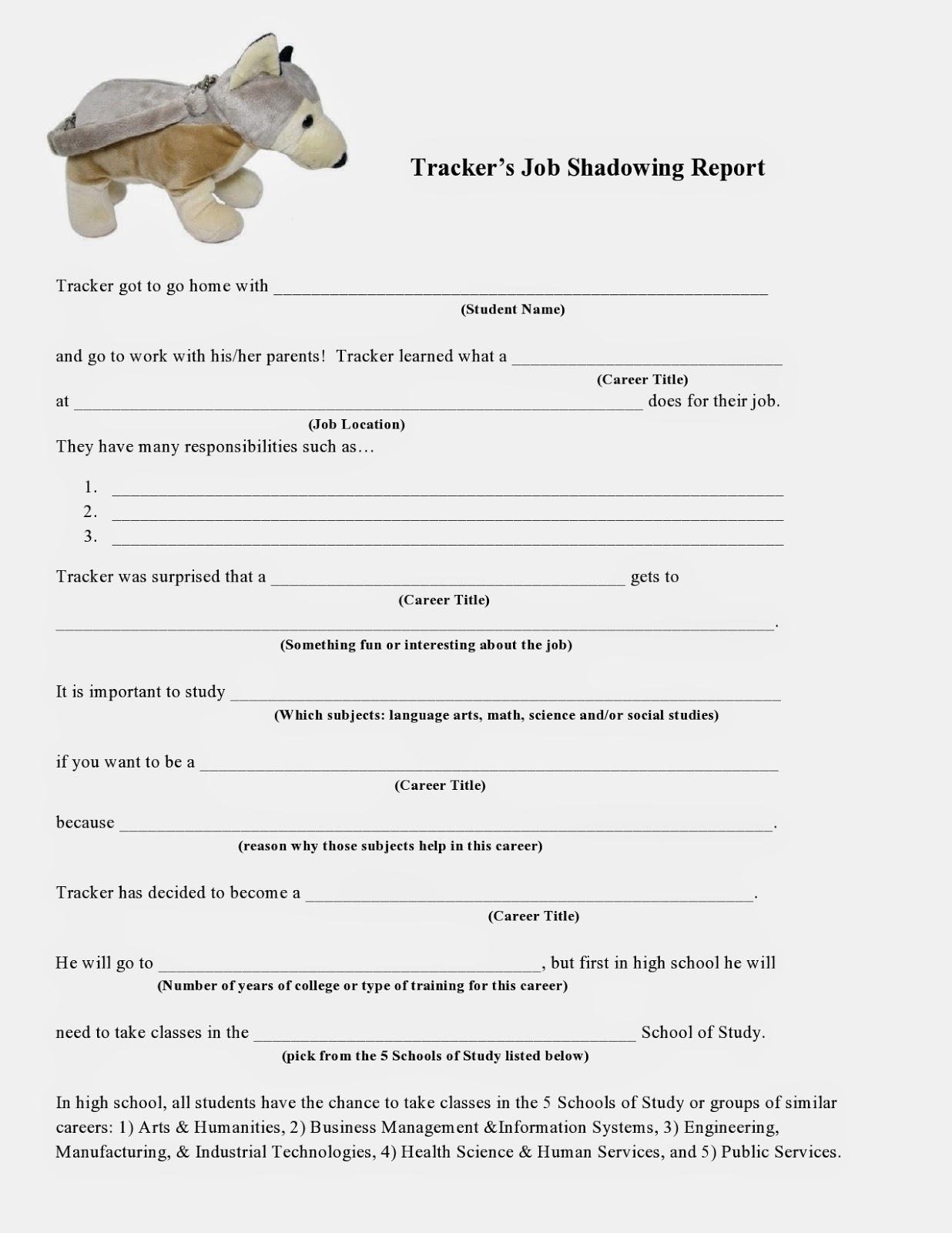 the creative counselor tracker sniffing out the many careers in report form