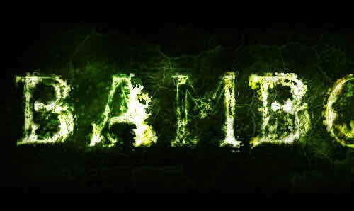 realistic weedy text effect tutorial