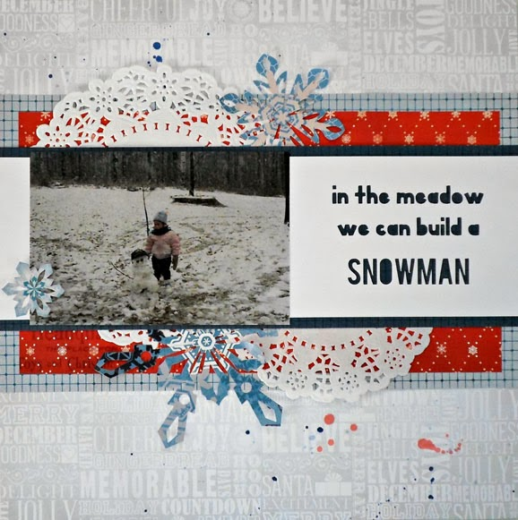 Snowman BoBunny Layout