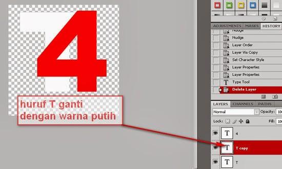 cara klik kanan layer t kemudian pilih duplicate layer atau bisa juga ...