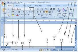 microsoft office word 2007 bagian bagian microsoft word 2007 adalah
