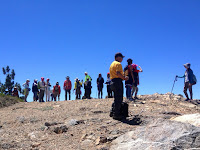 Hikemasters group on Mount Islip (8250'), Crystal Lake, Angeles National Forest
