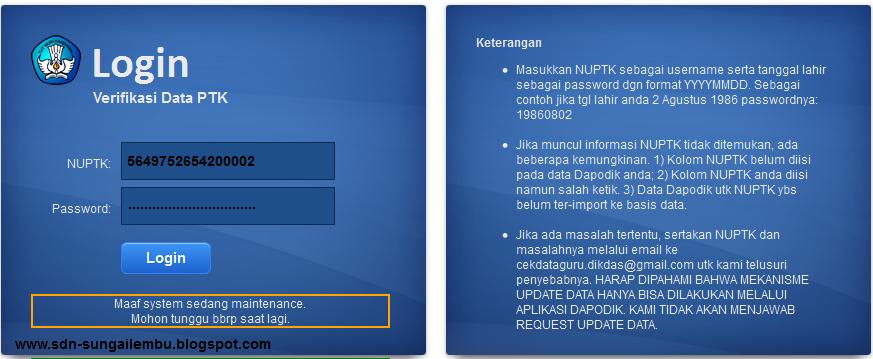 Hasil : Pengecekan Tanggal 20 Februari 2013 jam 02.30 WIT Untuk data