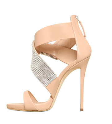 Giuseppe Zanotti nude strappy sandals with embellishments