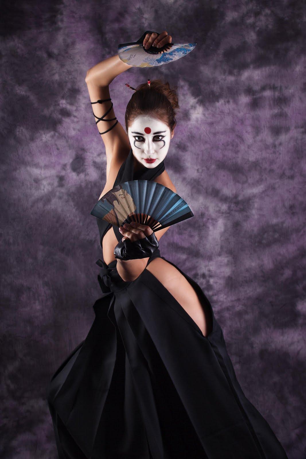 my makeupbox is a bomb   geisha    samurai creative makeup look