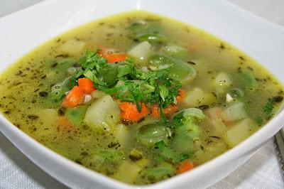 zupa porowa z bobem
