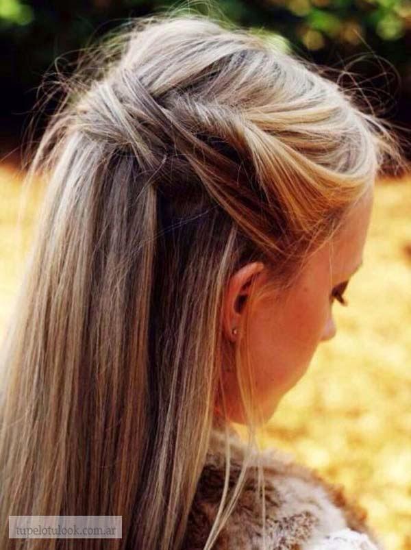 peinados semi recogidos con lazos 2015