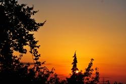 Ein friedlicher Abendhimmel...