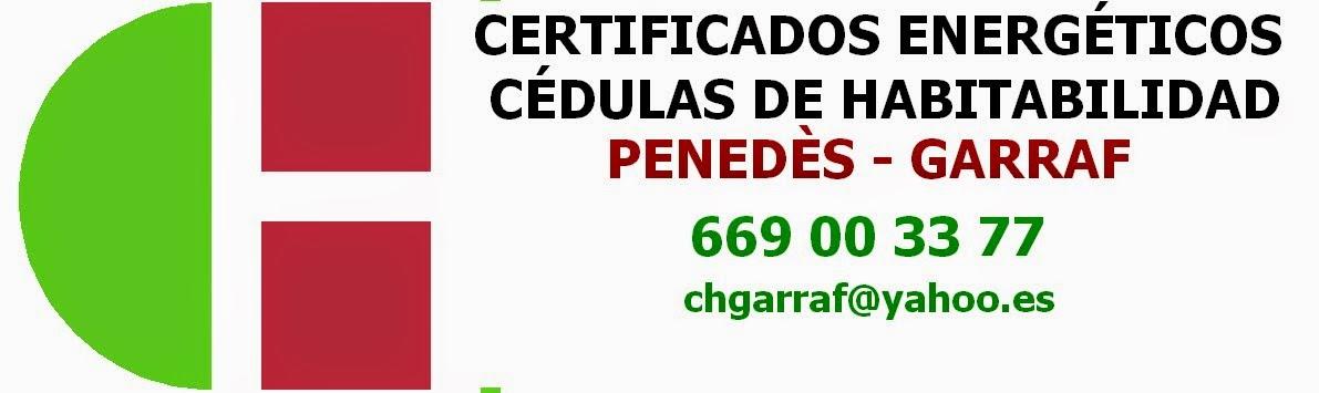 Certificados energéticos Garraf Penedès
