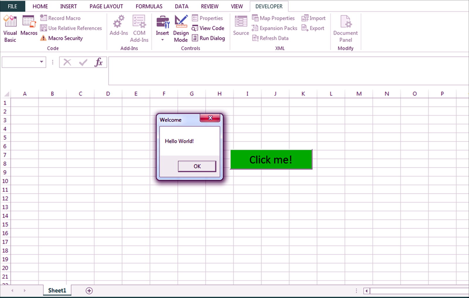 How to create a message box in excel using VBA and pop up whenever ...
