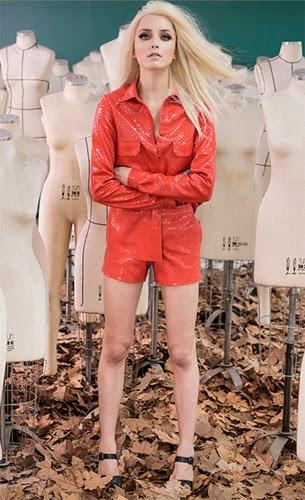 Patrícia Viera look camisa e shorts coleção inverno 2015