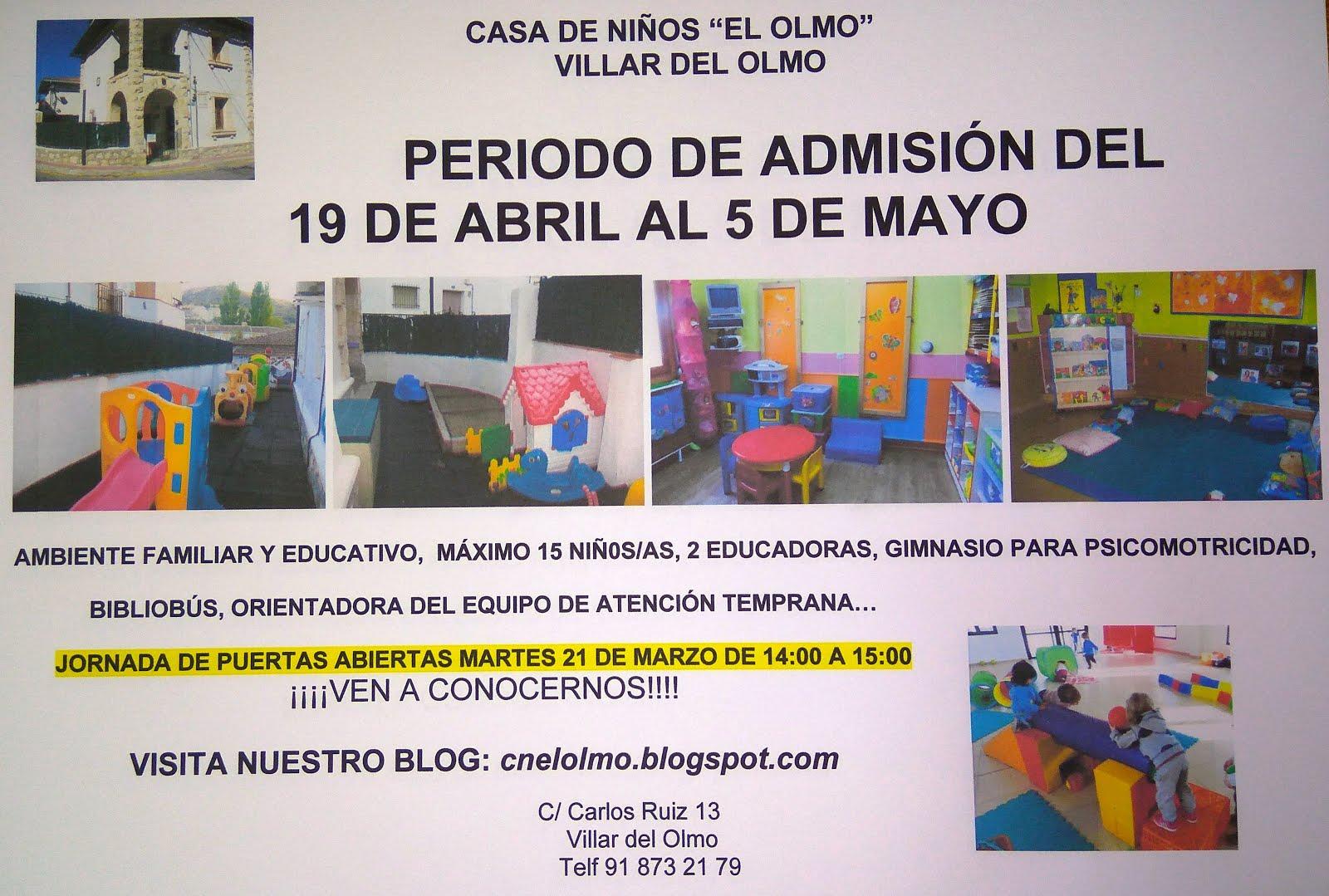 PERIODO DE ADMISIÓN CURSO 17-18